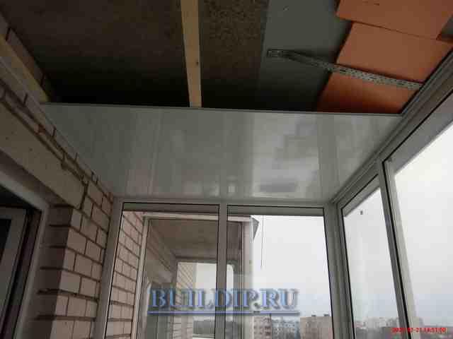 Потолок на балконе из панелей пвх - всё о балконе.