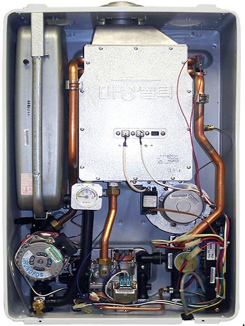 Газовый котел CELTIC (Корея) с ситемой плавного электророзжига и функцией контроля наличия пламени.