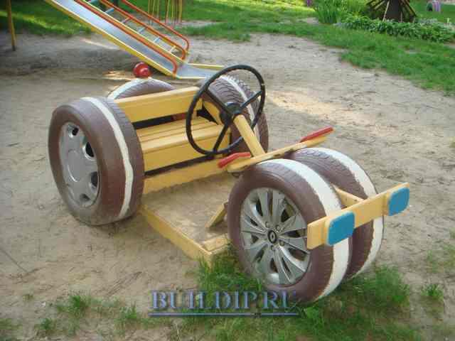 Детская машинка из шин своими руками фото 70
