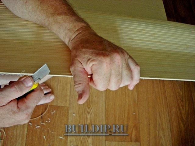 Как клеить бамбуковые обои – мастер класс