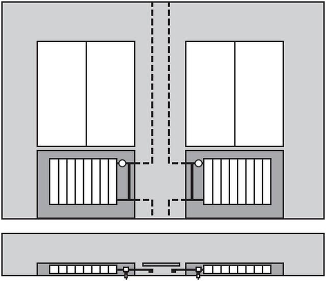 Схема скрытой прокладки однотрубной системы.