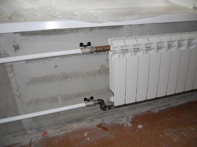 Параллельное подключение радиаторов отопления.