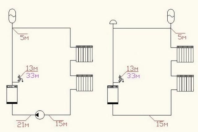 Настроечное давление газа при верхней установке мембранного бачка.